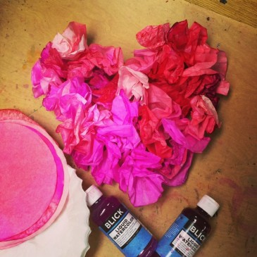 Coffee Filter Heart, in Color