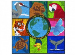 Endangered Earth Day collaborative art project