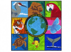 Earth Day Endangered Mural