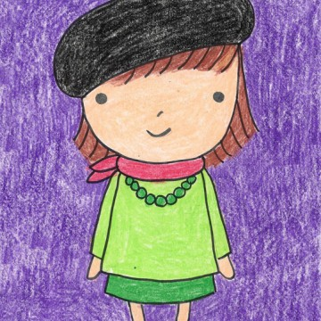Draw a Little French Girl