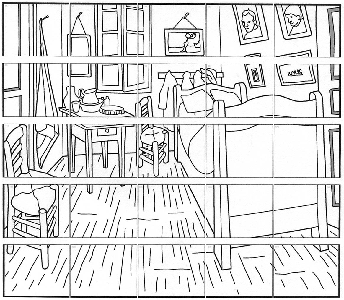 Free Coloring Pages Of Gogh Room