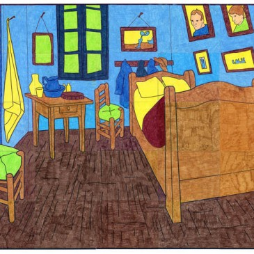 Van Gogh's Bedroom Mural $5
