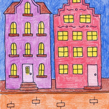 Draw Amsterdam Buildings