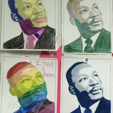 MLK Art from Gaithersbury, MA