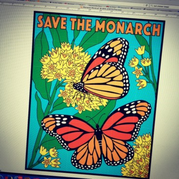 Monarch Butterfly Mural Preview