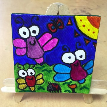 Doodle Bugs on Canvas