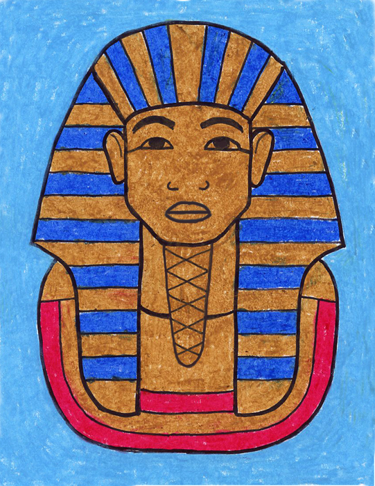 Drawing King Tut - Art Projects for Kids