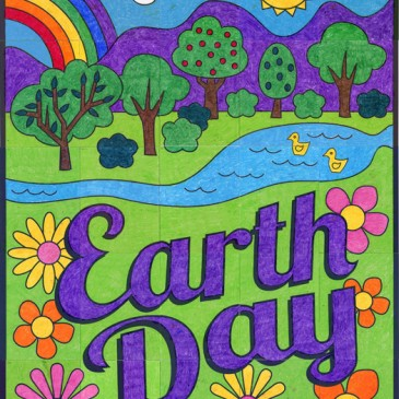 NEW! Earth Day Countryside Mural