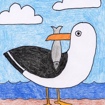 Draw a Seagull