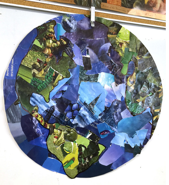 blue pla  collage   art projects for kids