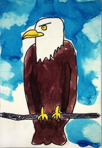 Eagle with Clouds 700