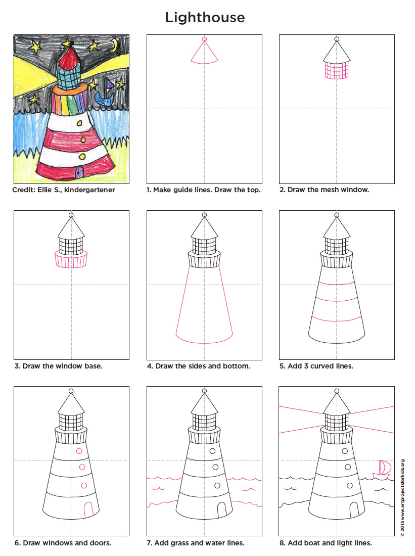 Draw A Lighthouse Art Projects For Kids Bloglovin