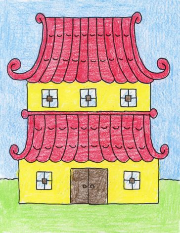 Draw an Asian House