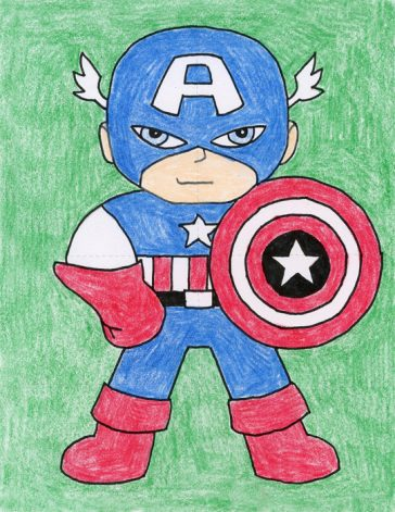 Draw Captain America