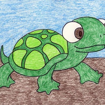 Draw a Cartoon Turtle