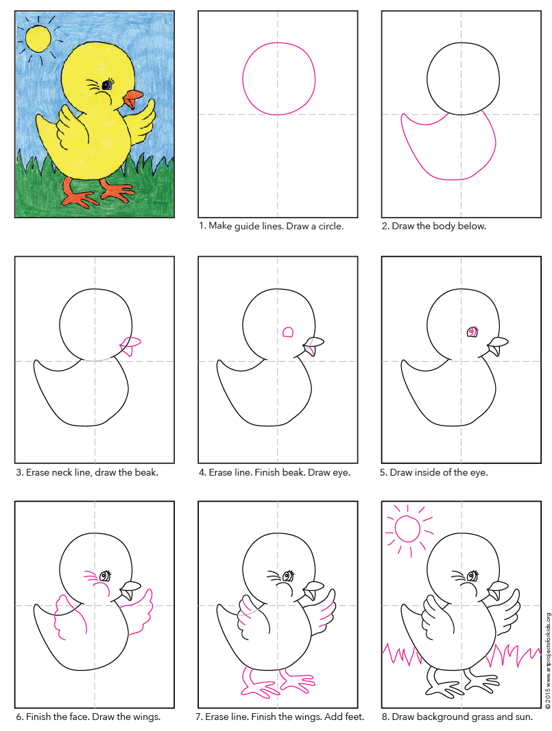 Drawing Lines For Toddlers : Baby chick art projects for kids