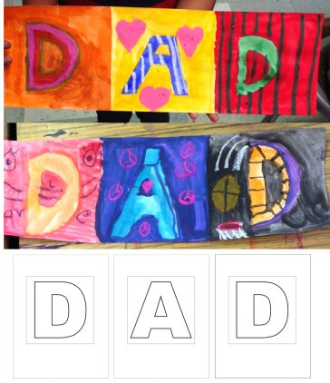 DAD Card Template