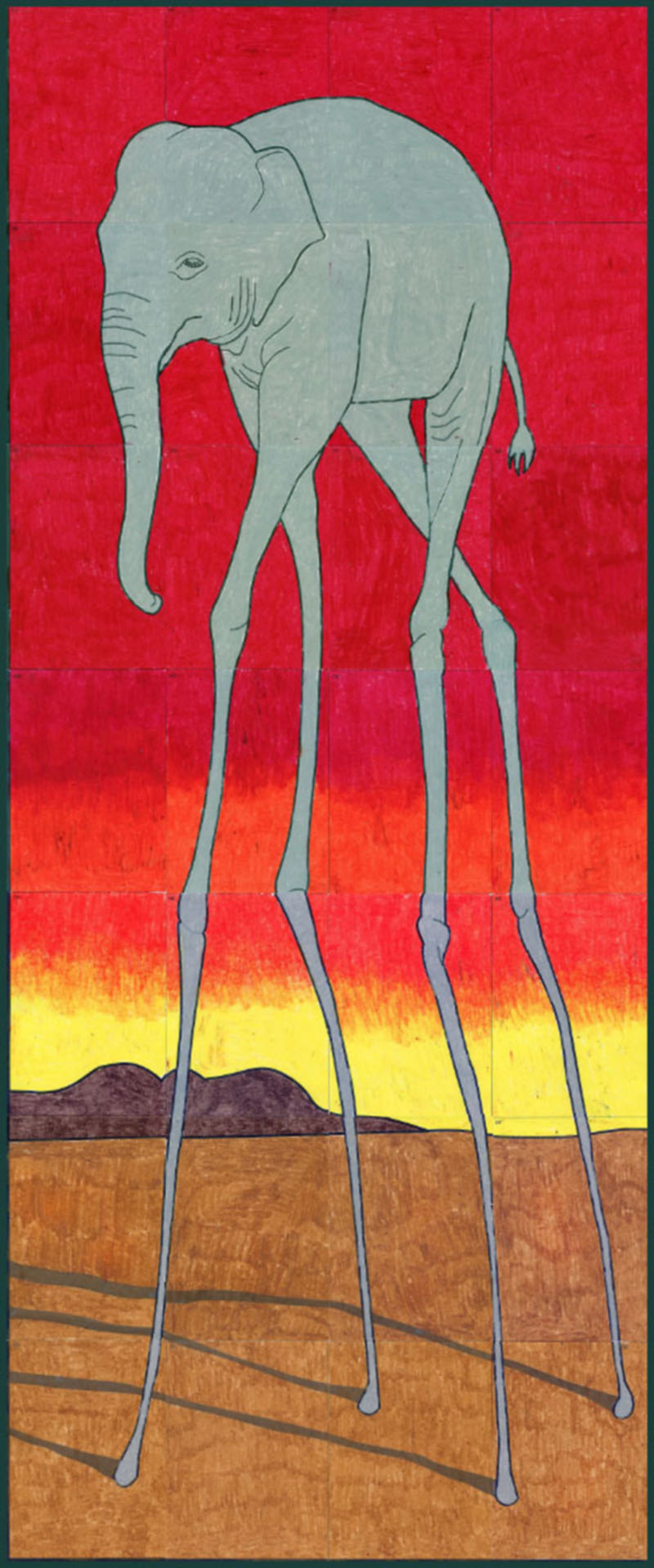 Salvador dali mural preview art projects for kids for Children s mural artist