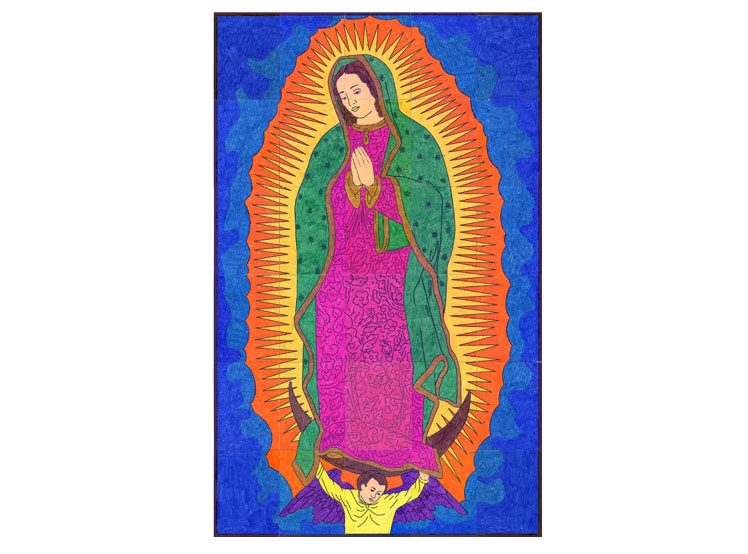 Our lady of guadalupe mural art projects for kids for Our lady of guadalupe arts and crafts