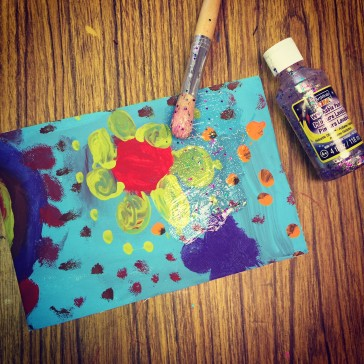 Glitter Paint and Canvas Journals