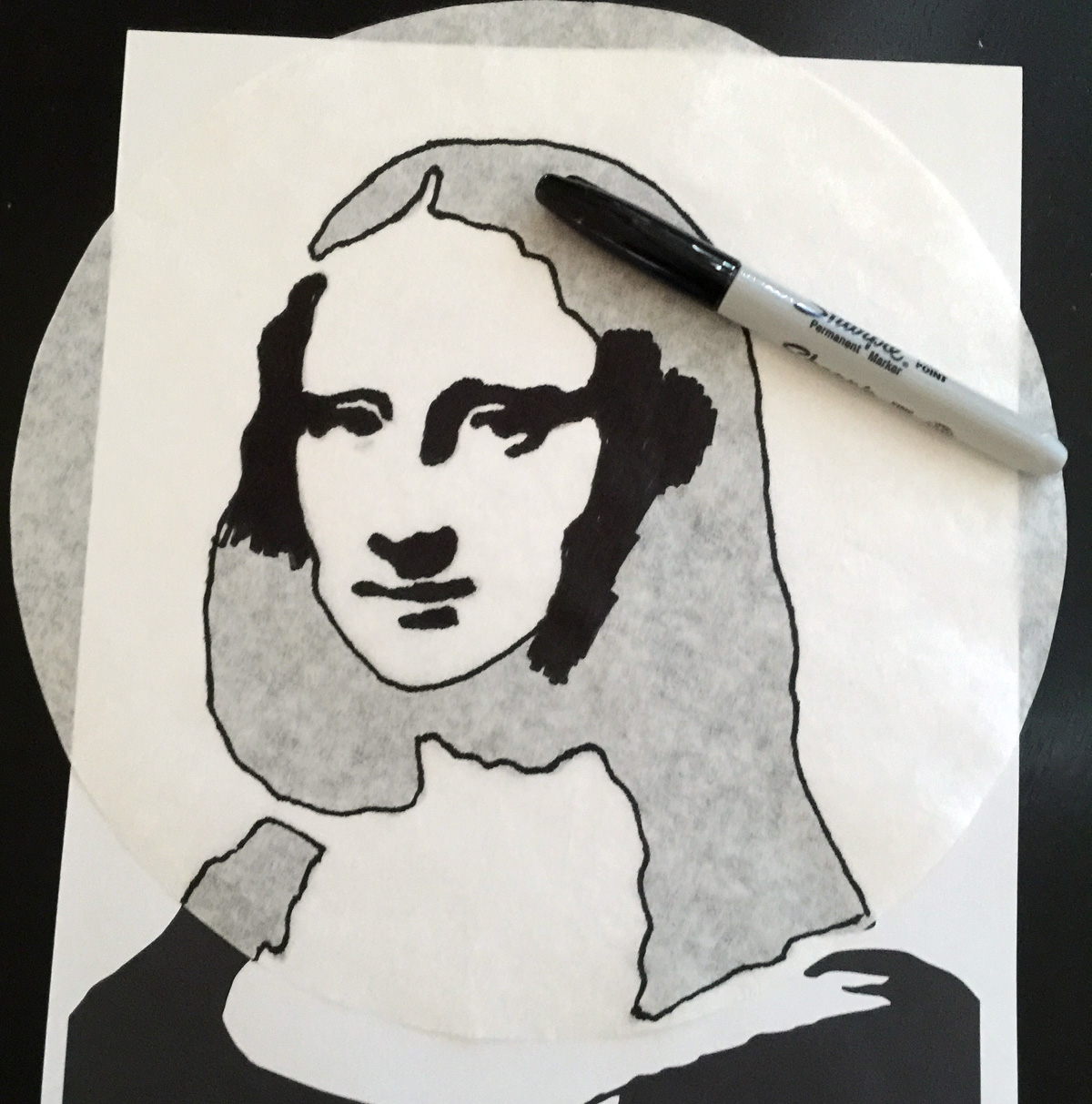mona lisa paper Enlarging the mona lisa with grids submitted by:  squares of paper,  it will create an intrigue for the mona lisa from students.