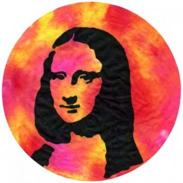 Mona Lisa Coffee Filter Portrait