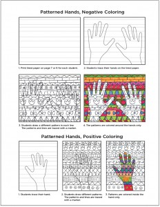 Patterned Hands Art Project