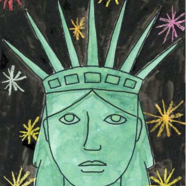 Draw Lady Liberty's Portrait
