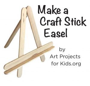 popsicle stick mini easel