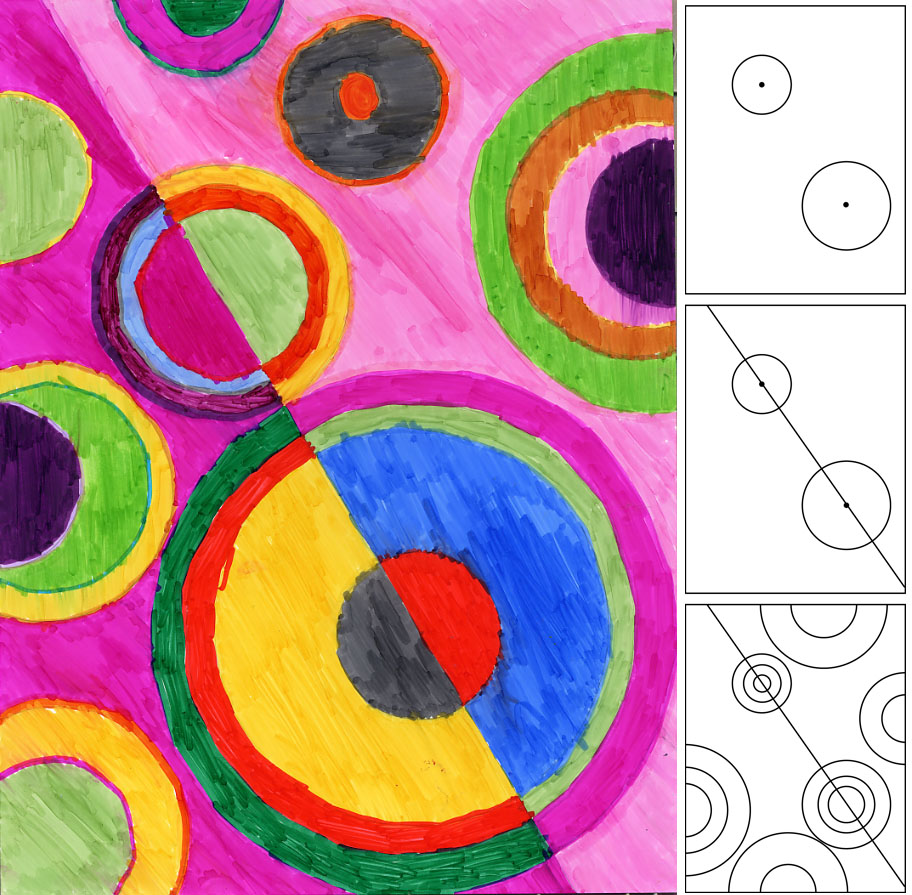 Sonia delaunay circles art projects for kids for Cool art ideas for kids