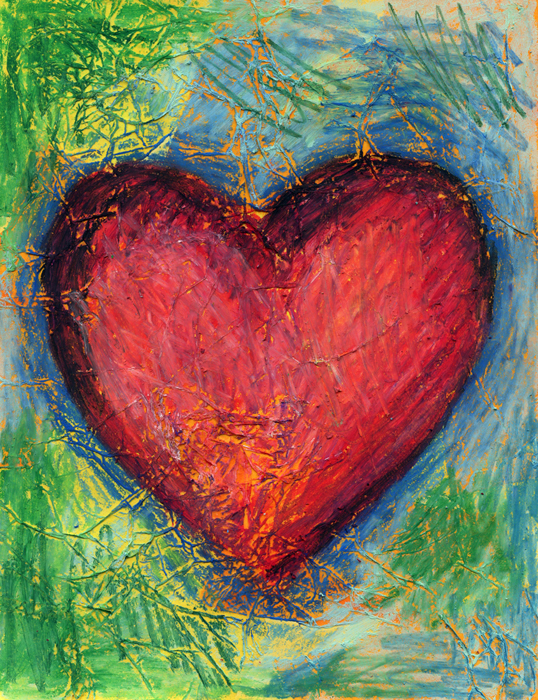 Jim Dine Heart - Art Projects for Kids