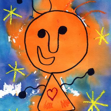 Paint like Miro with Tissue Paper