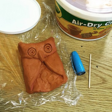 Air Dry Clay Owl