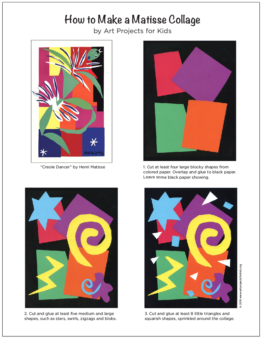 Art Projects for Kids | Teacher-tested Art Projects: artprojectsforkids.org/make-a-matisse-collage