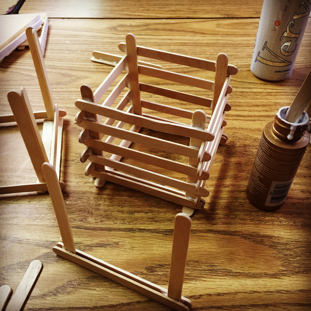 Popsicle sticks art projects