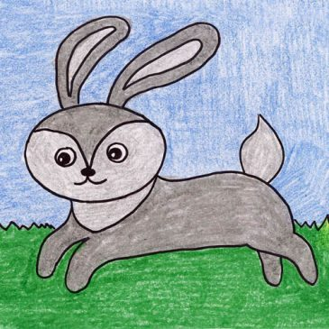 Draw a Running Rabbit