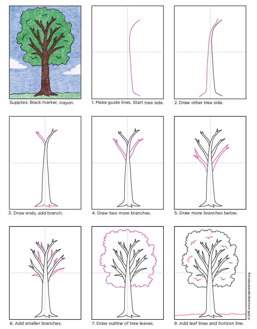 How to Draw a Tree - Art Projects for Kids