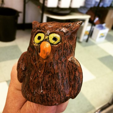 Clay Thumb Owl