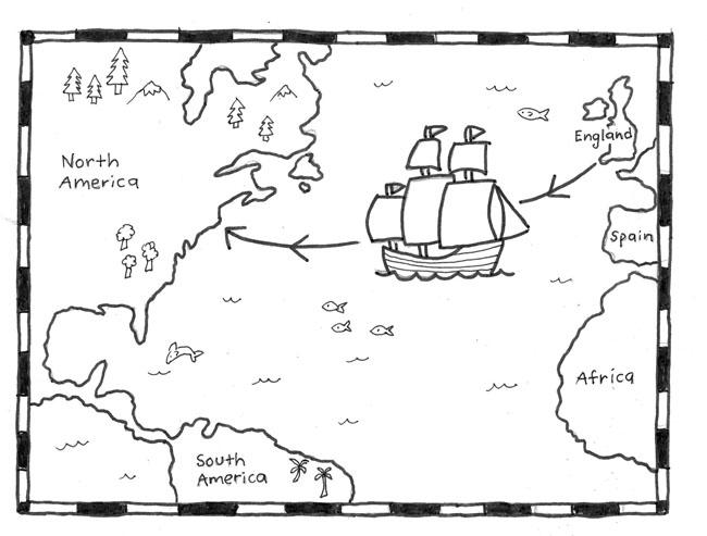 mayflower coloring pages for preschool - photo#34