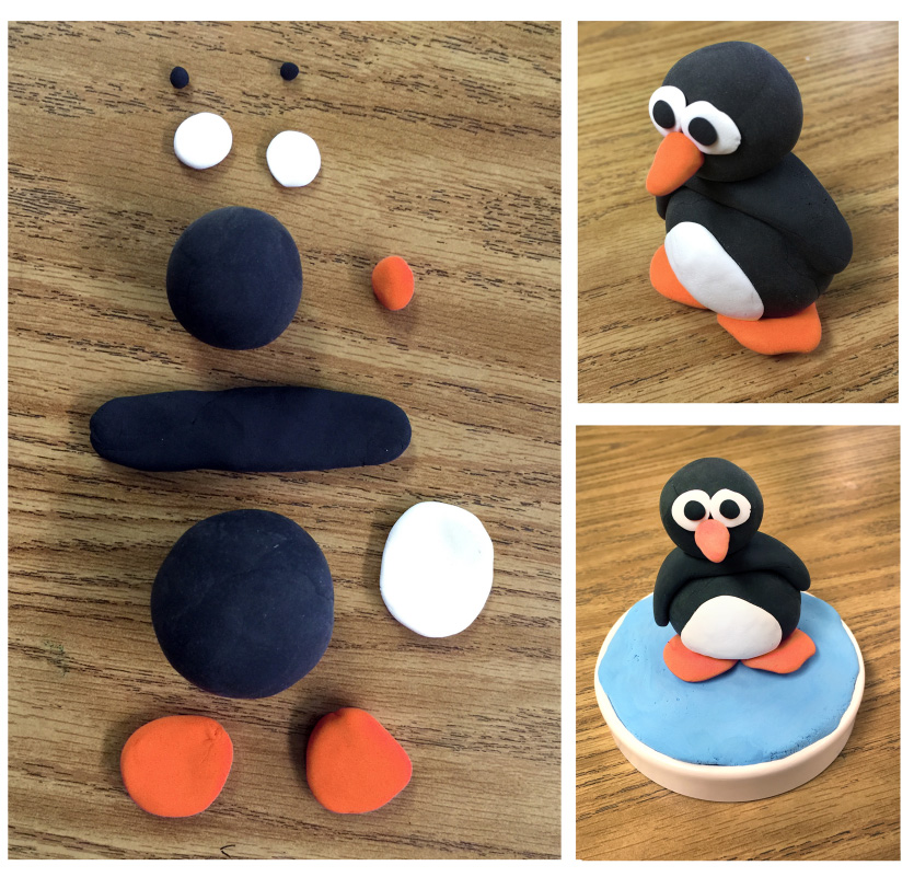 Model Magic Penguin - Art Projects for Kids