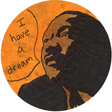 Martin Luther King Silhouette