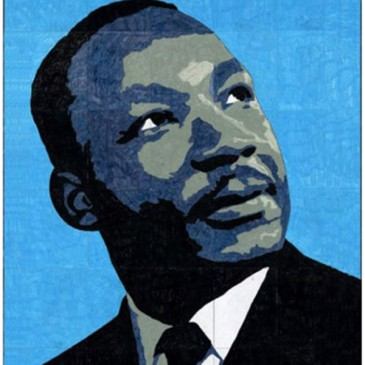 Martin Luther King Mural Template, $5