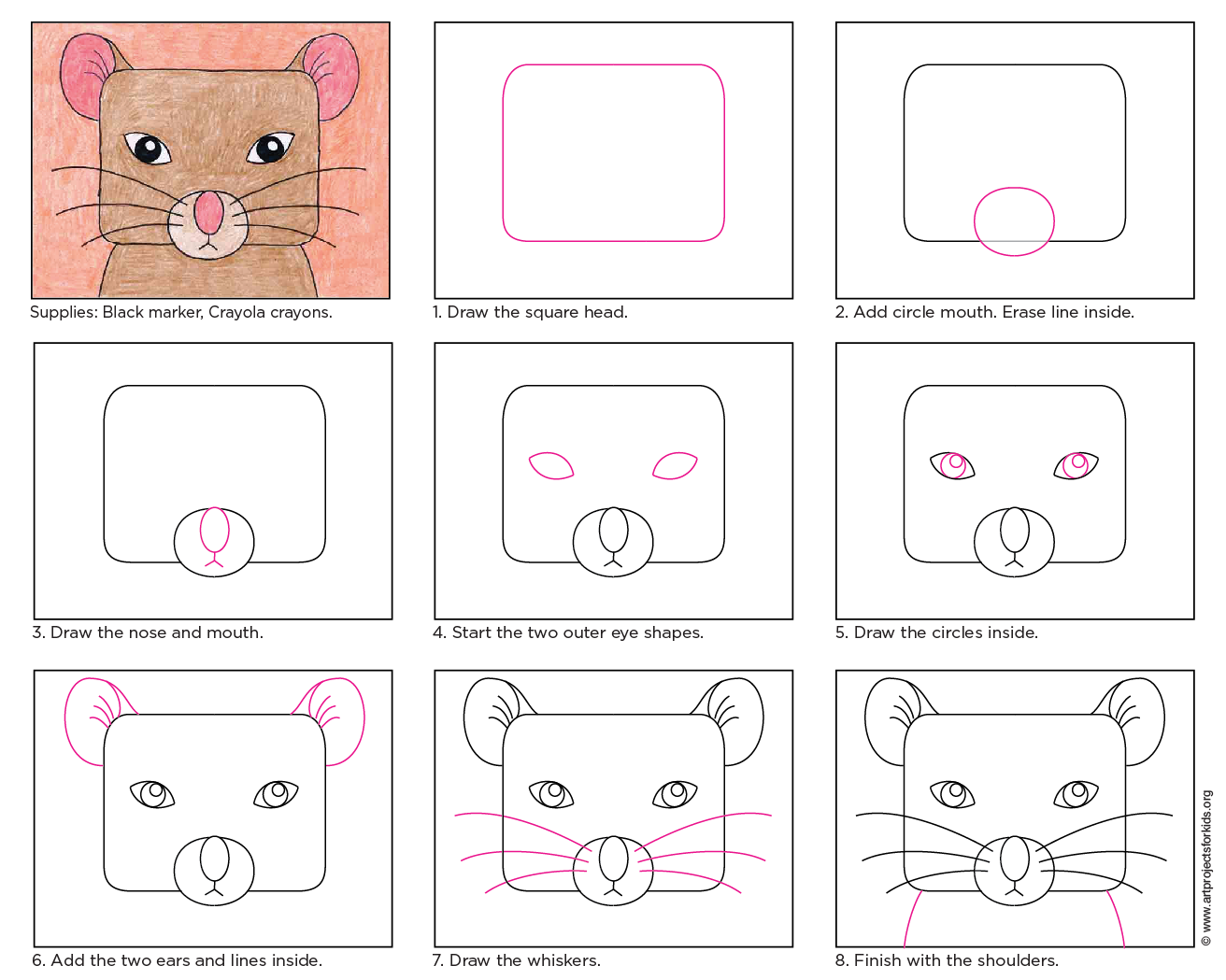 Draw A Mouse Face