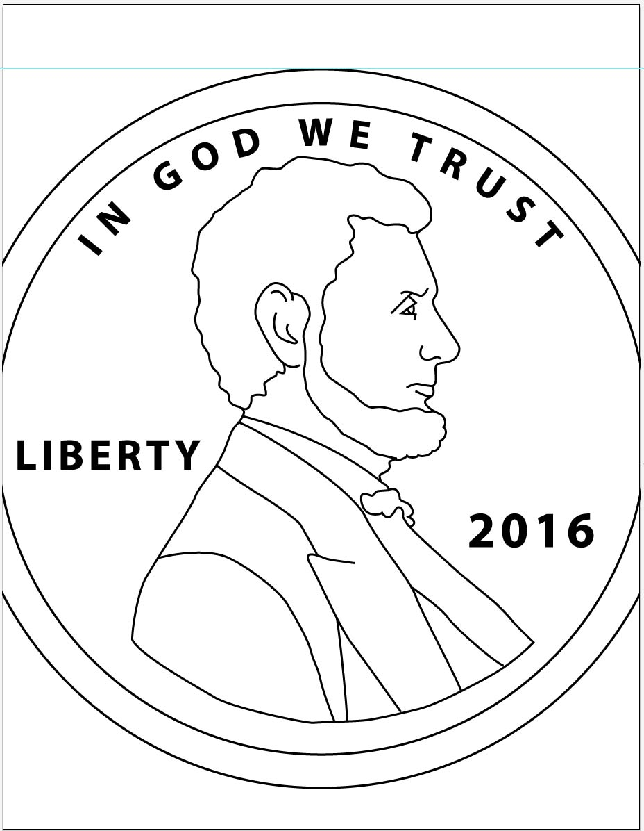 penny nickle coloring pages - photo#25