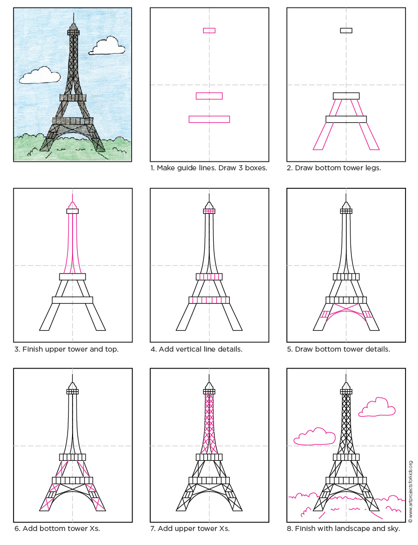 Eiffel Tower Art Projects For Kids
