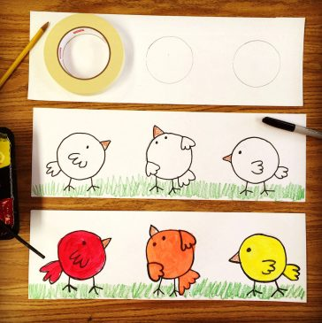 Mixing Colors with Little Birdies