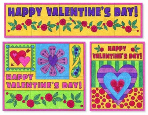 collaborative Valentine's Day Murals