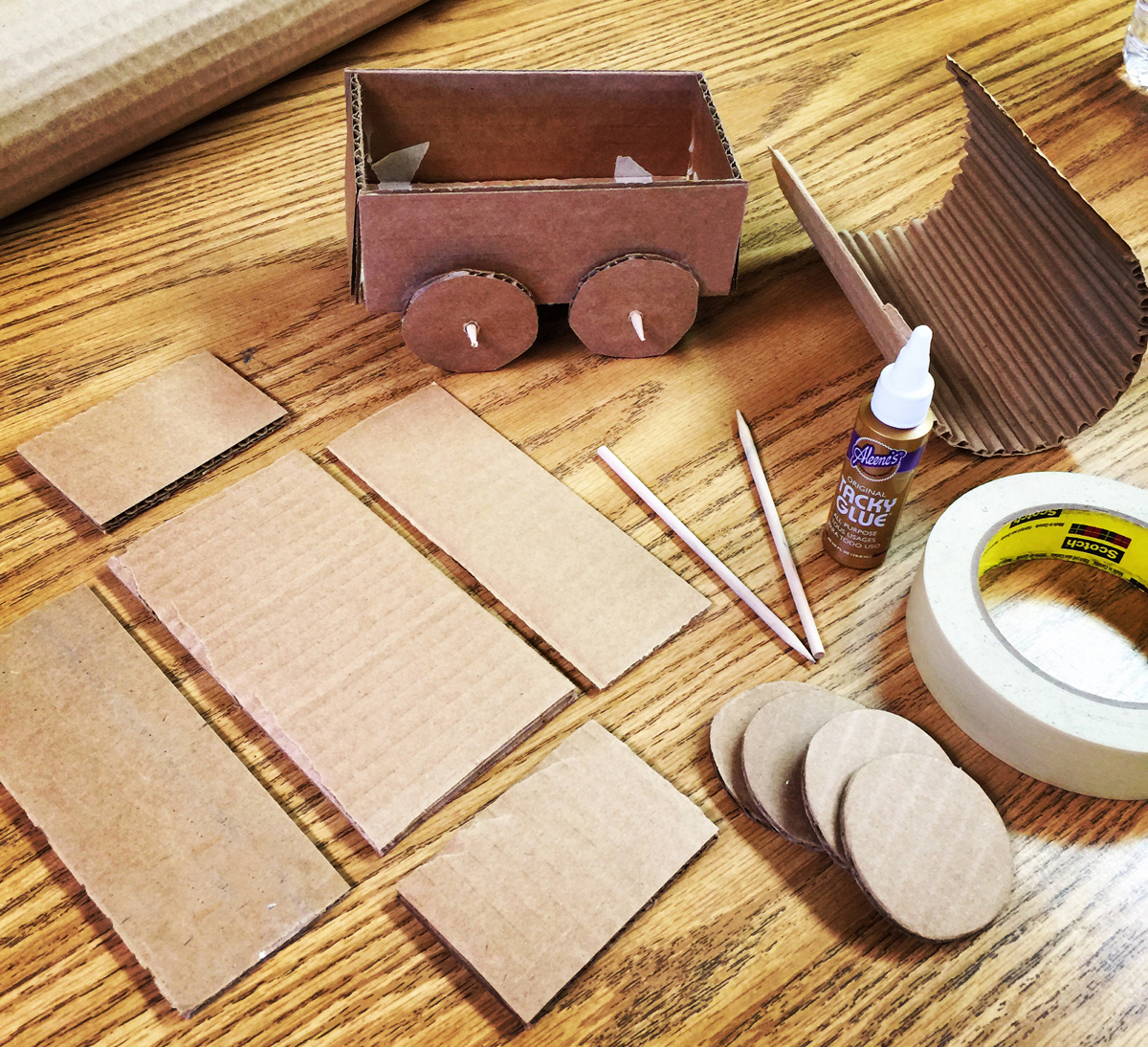 Cardboard covered wagon art projects for kids bloglovin for Cardboard for projects
