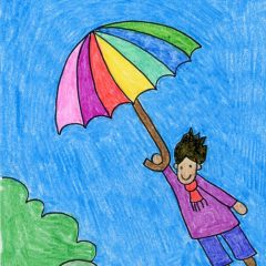Flying Umbrella Kid