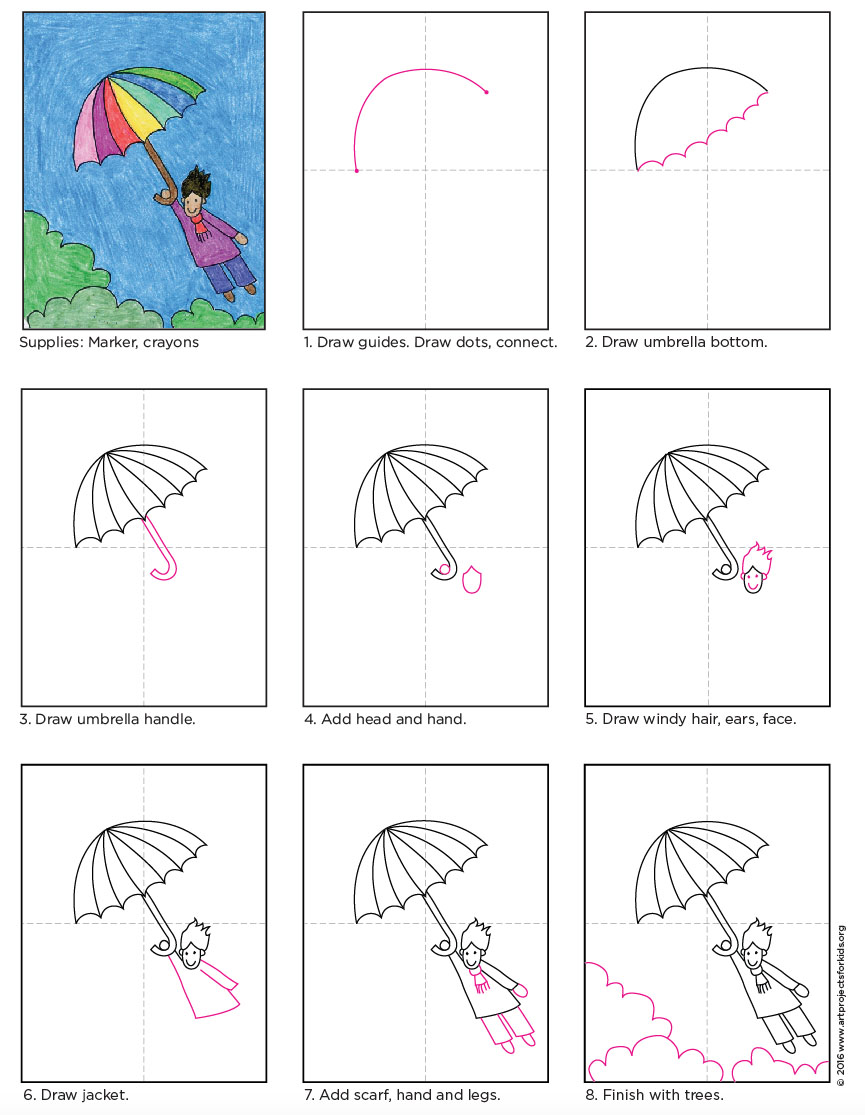 how to draw a rocket step by step for kids